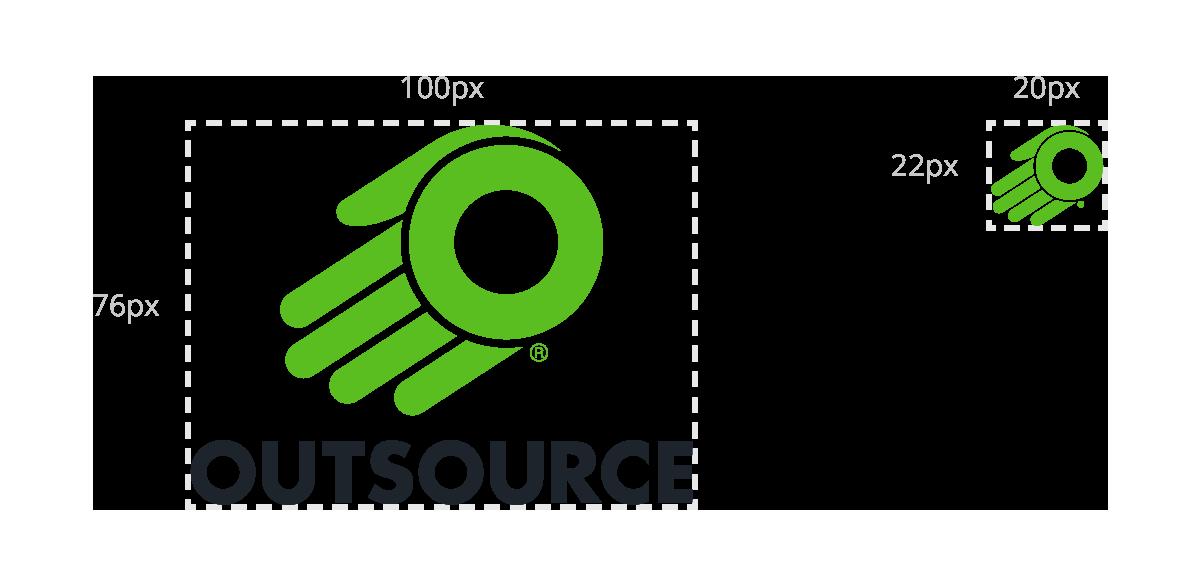Outsource minimum logo size